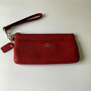 Coach New York Red Leather Wristlet